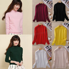 Women Cashmere Blended Sweater Autumn Winter Warm Slim Knitted Pullover New