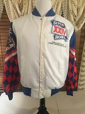 Mens VINTAGE CHALKLINE RARE 1990 Super Bowl 24 '49ers The Big Easy EUC Jacket