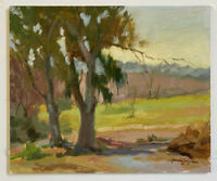 Original Oil Painting ( Countryside ) canvas board size 10x12 Single-Piece Work