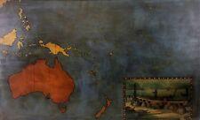 PLAN OF OCEANIA. OIL ON CANVAS. ANONYMOUS. SPAIN. CIRCA 1950