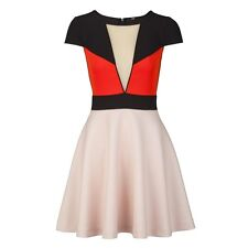 BNWT Definitions Colour Block Scuba Skater Dress Size 12 Petite RRP £49