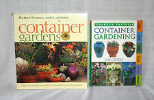 New listing 2 Container Gardening Books Garden Planter Lot Pots
