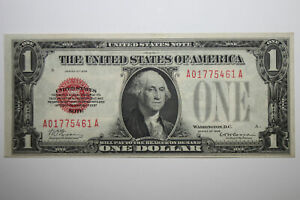 1928 Dollar Funny Back United Stated Note Red Seal Crisp Uncirculated (JENA-088)
