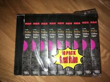 Lot of 10 Factory Sealed RCA 6 Hour Blank VHS Tapes