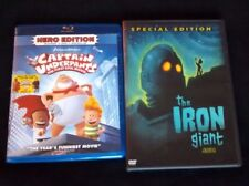 Captain Underpants Blu-ray + The Iron Giant Dvd! #SciFi #Animation #Fantasy #M2D