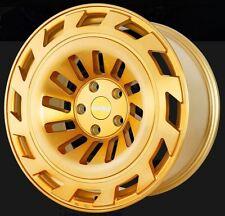 19X8.5 Radi8 T12 5x112 +45 Gold Brush Wheels Fits audi a3 tt(MKII) gti (MKV,MKVI