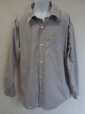 Gap Kids Boys 8 Medium M Shirt Long Sleeve Button Down Brown Blue
