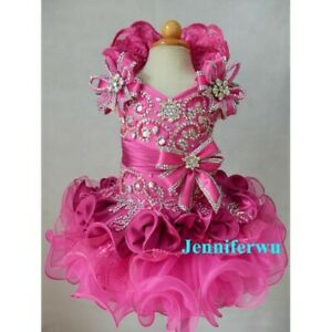 Infant/toddler/baby/children/kids Girl's glitz pageant Dress/clothing 015