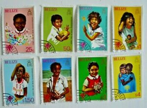 BELIZE INT. YEAR OF THE CHILD  SCOTT 490-7 COMPLETE SET  USED CAT $ 18.95