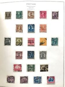 USA STAMPS 1922-26 COMPLETE SCOTT PAGE #551 - 573 IN VERY FINE CONDITION.