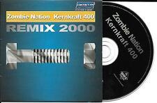 CD CARDSLEEVE CARTONNE 2T ZOMBIE NATION KERNKRAFT 400 REMIX 2000 TBE