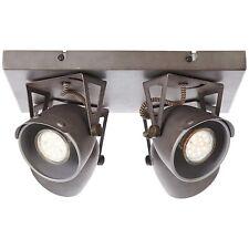 Brilliant LED KA Wand Decken Leuchte 4 flg Spot Strahler Burned Steel Lampe NEU