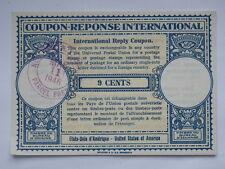 COUPON reponse international 9 cents 1946 New York USA america 1