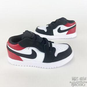 Nike Air Jordan 1 Low Toddler's Size 4C Gym Red White Black Sneakers