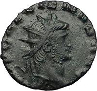 Gallienus Valerian I son 260AD Authentic Ancient  Roman Coin PAX PEACE i58974