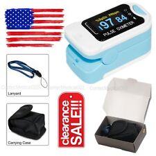 Finger Tip Pulse Oximeter SpO2 Heart Rate monitor blood oxygen Sensor Meter,CASE
