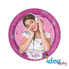 PIATTI VIOLETTA 19 cm - addobbi tavola Disney festa compleanno bambina 8 pz