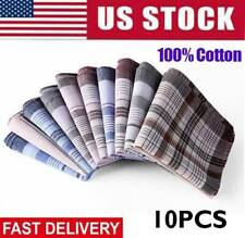 10X Mens Handkerchiefs Lot Set Handkerchief Hanky Cotton Assorted Pocket Square