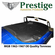 MGB Tonneau Cover Black Factory Quality Vinyl without Headrest Pockets 1962-1967