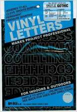 Permanent Adhesive Vinyl Letters & Numbers 1 Inch-Gothic/Black 029211321414