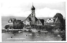 Halbinsel Wasserburg RP PPC Unposted Showing Pedalos in Harbour & Hotel Krone