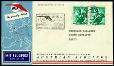 Austria, First Fly Cover, Wien - Paris, Year 1958, Austrian Airlines