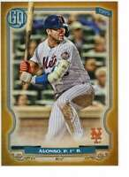 Pete Alonso 2020 Topps Gypsy Queen 5x7 Gold #65 /10 Mets