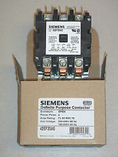 Siemens Contactor 60 Amp, 3 Pole, 208 / 240 V. Coil, 42EF35AG, 75 Amp Resistive