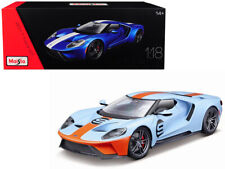 2017 Ford GT #9 Gulf Oil 1/18 Scale Diecast Car Model By Maisto 38134