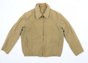 Woodhouse Mens Beige  Corduroy Jacket Coat Size M