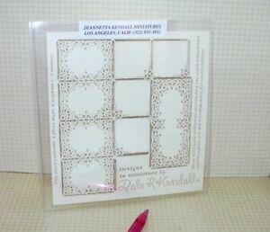 Kendall Laser-Cut Paper Doilies - Place Mats: DOLLHOUSE Miniatures 1:12 Scale