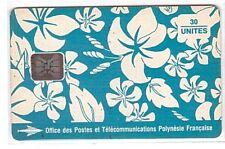 Polynésie française - Chip Phonecard - PF017a Paréo Bleu CN-C4120073C - Usagée
