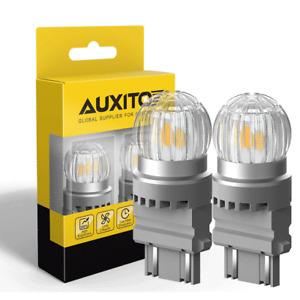 AUXITO LED Turn Signal Blinker DRL Parking Light Bulb Amber Lamp 3157 4057 4157