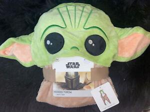 PRIMARK Disney The Mandalorian Baby Yoda Hooded Blanket Throw 120x150 cm