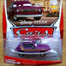 Disney PIXAR Cars J. CURBY GREMLIN on 2013 LEMON THEME CARD diecast 1/7 purple
