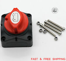 12V Battery Disconnect Cut On/Off Rotary Switch Boat RV ATV Marine Boat Switch