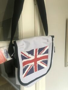 Union flag Messenger bag  white new with tags