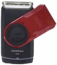 Braun MobileShave Pocket Shaver Washable Battery Operated M60 Red