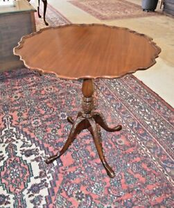 Refinished Antique Pie Crust Table, by Ferguson bros Hoboken NJ