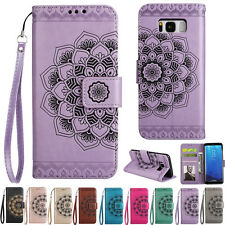 Mandala ID Card Wallet Leather Flip Case Cover For Samsung S5 S6 S7 8 J3 J5 A310