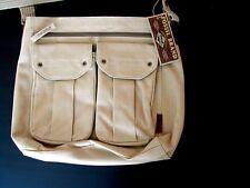 Fossil Messenger Bag Sac Kaki Tan Sable Toile Crossbody/Shoulder unisexe New