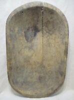 Antique OLD AMERICANA Bowl Primitive Folk Art 1800s Wooden Butter/Bread