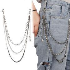 Jeans Chain Rivet Gothic  Punk  Star Tassel Pants KeyChain Wallet Chain Rock