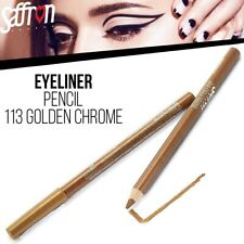 Saffron London Eyeliner Soft Kohl Pencil Eye Liner Makeup - Golden Chrome 113