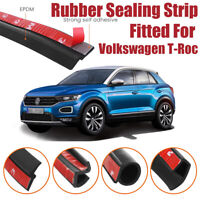 Car Seal Strip Kit Rubber Weather Draft Wind Noise Reduction For VW T-Roc