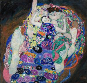 gustav klimt nudes art painting print canvas 50cm x 50cm vintage