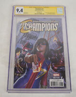 Champions 1 2016 CGC SS 1:100 Alex Ross Variant Signed Mark Waid Ms Marvel