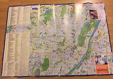 Stadtplan MÜNCHEN mit Verzeichnis von Sehenswürdigkeiten und Hotels (englisch)