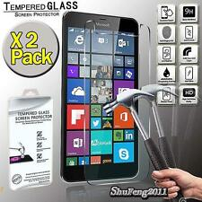 2 Pack Tempered Glass Film Screen Protector Cover For Microsoft Lumia 640 XL LTE
