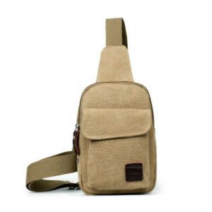 Men's Small Chest Sling Bag Travel Hiking Cross Body Messenger Shoulder Backpack
